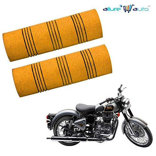 Allure Auto Bike Comfort Riding Soft Grip Cover Orange For Royal Enfield Classic 500