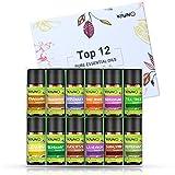 Aceites esenciales de aromaterapia, 12 botellas, 8 ml, lavanda, naranja dulce, menta, limón, árbol de té, eucalipto, rosemario, incienso, canela, pomelo, bergamota, aceites difusores de sándalo.