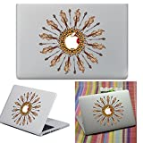 Macbook Aufkleber Abziehbild, YUDA Tech Abnehmbar Kreis Entwurf Vinyl Decal Haut Stickers Passt Perfekt f¨¹r Laptop MacBook Air/Pro/Retina 13 15 Zoll