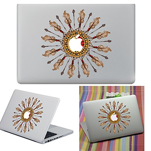 Macbook Aufkleber Abziehbild, YUDA Tech Abnehmbar Kreis Entwurf Vinyl Decal Haut Stickers Passt Perfekt f¨¹r Laptop MacBook Air/Pro/Retina 13 15 Zoll