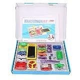 Virhuck WⅡ-688 Circuiti a Scatto Kit di Scoperta Elettronica, Blocchi Elettronici, Giocattoli per Bambini Regali di Natale regali - Multicolore