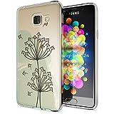 Samsung Galaxy A3 2016 Coque Protection de NICA, Housse Motif Silicone Portable Premium Case Cover Transparente, Ultra-Fine Souple Gel Slim Bumper Etui pour A3-16, Designs:Dandelion Bubbles