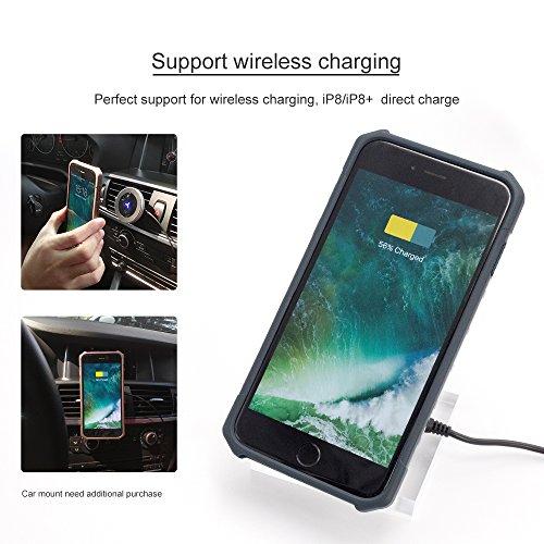 iPhone 8 /7 /6s/6 Portefeuille Cuir Cas[Détachable 2 dans 1 Couverture], Resee Carte Titulaire Cas, protection RFID, Choc Absorption Difficile Couvertures - Noir 5.5 pouces Vert Foncé