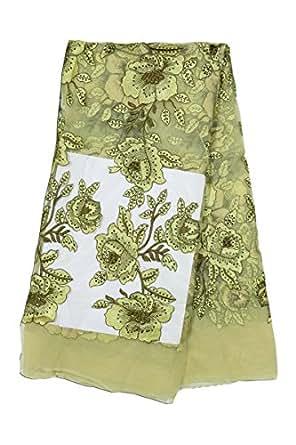 Fabricvilla Women's Net Saree Blouse (Fv001D01_Multi-Coloured_44 Width)
