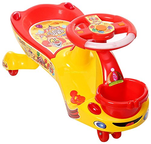 Baby Panda Free Steering Wheel Musical Magic Swing Car For Kids tricycle Riders  available at amazon for Rs.998