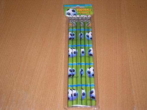3-packs-of-6-football-soccer-party-bag-pencils-with-eraser-boys-party-bag-fillers-pencils
