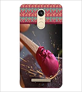 PrintDhaba Match Stick D-3767 Back Case Cover for XIAOMI REDMI NOTE 3 PRO (Multi-Coloured)