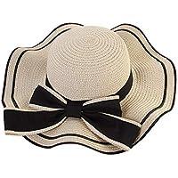 TTXSKX Sombrero De Verano Mujeres Playa Sombrero De Paja Sombrilla De Jazz  Panamá Trilby Sombrero Fedora 97082369322