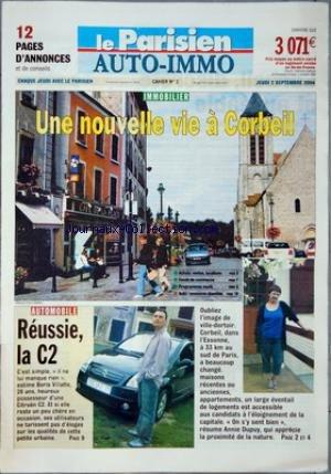 PARISIEN AUTO-IMMO (LE) [No 56196] du 02/09/2004 - IMMOBILIER - UNE NOUVELLE VIE A CORBEIL - AUTOMOBILE - REUSSIE LA C2. par Collectif