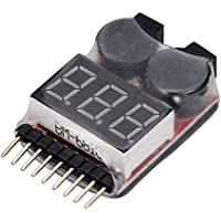 Medidor de pilas 1-8S Lipo LiMn (incluye alarma)