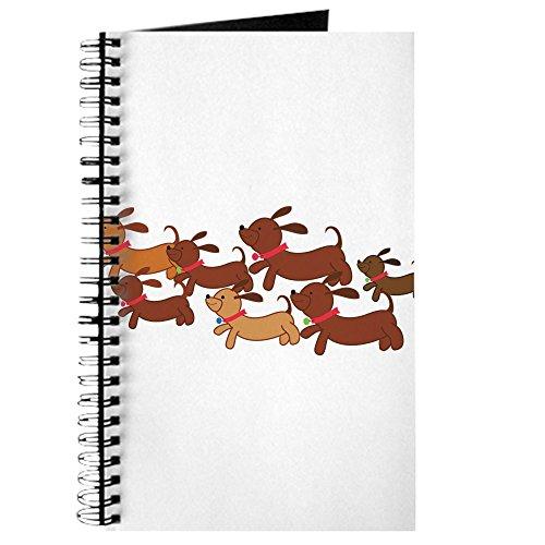 CafePress-Laufen Weiner Hunde. Png-Spiralbindung Journal Notebook, persönliches Tagebuch, Aufgabe Tagebuch