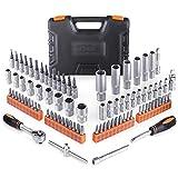 TACKLIFE 87Pcs Socket Case, Set di Chiavi a Cricchetto per Settore Automobilistico, Pulizie, Industria Manifatturiera, Costruzioni - SWS4A