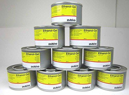 Preisvergleich Produktbild 10 Dosen 230ml Brennpaste für Chafing Dish geruchsneutral Ethanol
