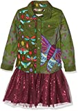Desigual Vest_Butterfly Robe, Vert (Avocado 4124), 128 (Taille Fabricant: 7/8) Fille