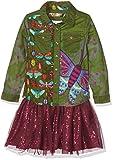 Desigual Mädchen Kleid Vest_Butterfly, Grün (Avocado 4124), 116 (Herstellergröße: 5/6)