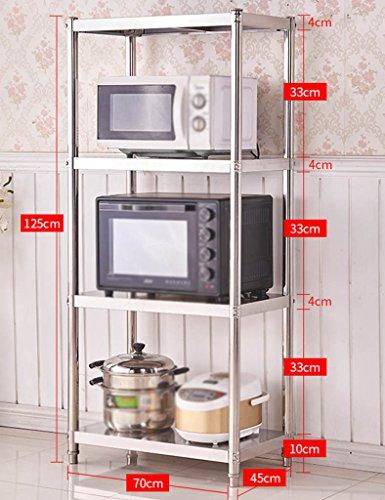 HWF Etagères de cuisine Ensemble de cuisine Ensemble de four à micro-ondes Fournitures de cuisine en acier inoxydable (taille : 125 * 70 * 45cm)