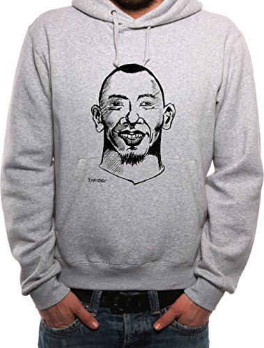 Mister Merchandise Herren Hoodie Kapuzenpullover Jerome Boateng , Größe: XXL, Farbe: Grau