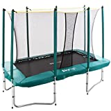 Skyhigh 7ft x 10ft Rectangular Trampoline with Enclosure. Superior and Expressive Bounce which
