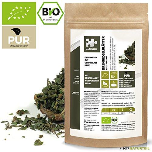 500 g Brennessel-Blätter Geschnitten Bio - Im Aromadichten & Wiederverschließbaren Beutel - Naturteil (Brennessel Blätter)