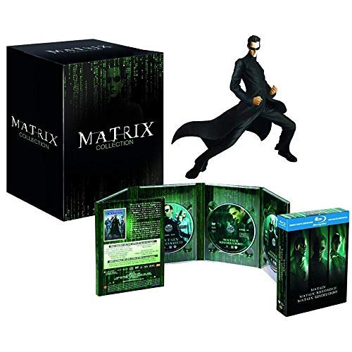 Matrix Trilogy Collection - 3-Disc Box Set & Neo Resin Statue ( The Matrix / The Matrix Reloaded / The Matrix Revolutions ) (Blu-Ray & DVD Combo) [ Italienische Import ] (Blu-Ray) -