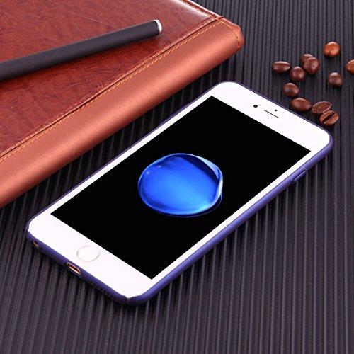 Phone case & Hülle Für iPhone 6 Plus / 6s Plus, leichte Breathable Full Coverage PC Shockproof schützende rückseitige Abdeckungs-Fall ( Color : Black ) Dark blue