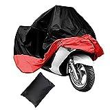 Motorradabdeckung Fahrradabdeckung Wasserdicht Wasserdicht Motorrad Abdeckplane Faltgarage(rot,XL )
