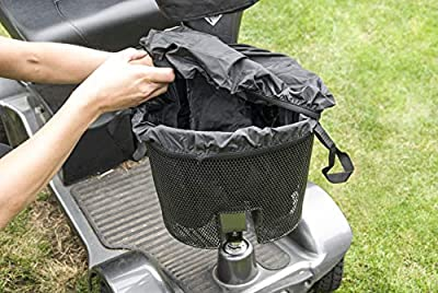 SpeedwellStar - Mobility Scooter Basket Bag Liner and Cover Black Handles Front Waterproof Fitted Bike Bicycle