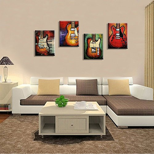 Pittura Su Tela Per Chitarra Quadri Pop Art Cornice Moderna Canvas ...