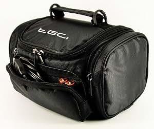 TGC Sac à bandoulière pour appareils photo SLR, bridges et caméscopes Panasonic DMC-FZ48, FZ62, FZ200, G5, GH2, GH3, LZ20, LZ30, HC-X800, HC-X900, HC-X900M, HC-X920, HX-WA2, HX-WA3, HX-WA20 et HX-WA30 Noir