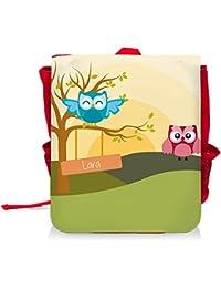 Preisvergleich für Kinder-Rucksack mit Namen Lara und schönem Motiv mit Eulen-Landschaft für Mädchen