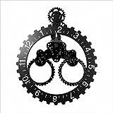 Orologio da parete orologio europeo meccanico moderno orologio da parete in metallo orologio caldo orologio da parete retrò semplice salotto cucina ristorante camera da letto cam cambio muro orologio , Black
