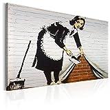 murando - Bilder 120x80 cm - Leinwandbilder - Fertig Aufgespannt - 1 Teilig - Wandbilder XXL - Kunstdrucke - Wandbild - Poster Banksy Mural Graffiti i-C-0021-b-a