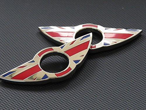 BADGE PER PORTA PIN Emblema rosso Inghilterra per BMW MINI Cooper / S / ONE / Roadster / Clubman / Coupe