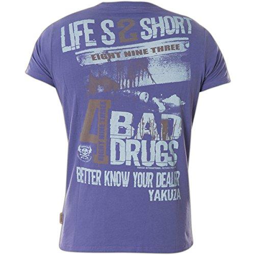Yakuza Original Herren Know Your Dealer T-Shirt Blau