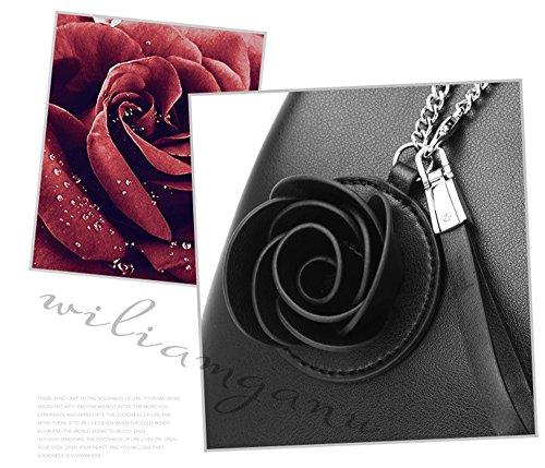 XinMaoYuan Autunno e Inverno borsette in cuoio personalizzata Wild borsetta Borsa Nuziale matrimonio semplice con borsa da donna,Off-White Off - Bianco