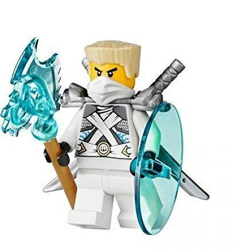 Lego Ninjago Minifigur Zane Titanium Ninja aus 70728 mit Waffen NEU (Lego Ninjago Minifigur Zane)