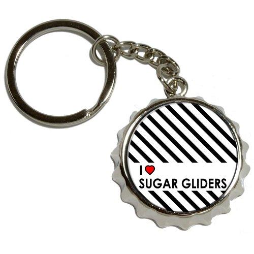Preisvergleich Produktbild I Love Zucker Möbelgleiter Popcap Schlüsselanhänger Metall Flaschenöffner vernickelt