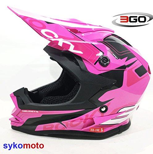 3GO xk188Rocky Niños Casco de motocicleta Motocross MX niña Quad ATV Offroad Racing Casco