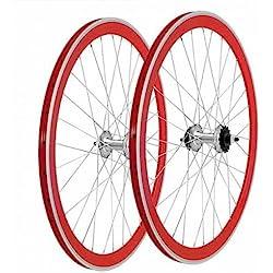 Pareja de ruedas Mowheel P50 CNC rojo