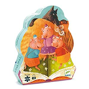 puzzle Les 3 petits cochons Djeco