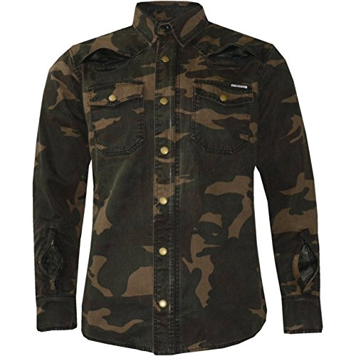King kerosin Speed Camiseta Air Kevlar camuflaje motocicleta Biker – Camisa