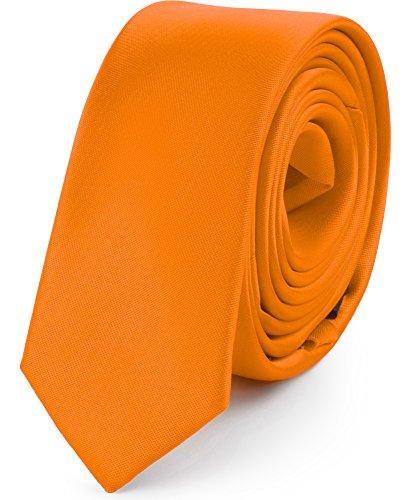 Ladeheid Herren Schmale Krawatte SP-5 (150cm x 5cm, Orange)