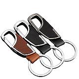 Hosaire 3Pcs Anillo de metal llavero Regalo creativo coche Simple coche keychain