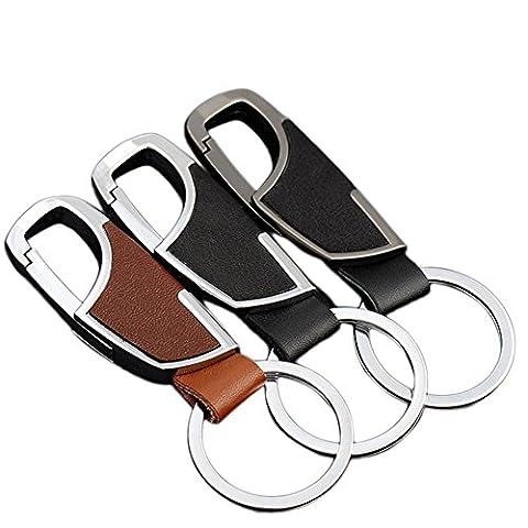 Lumanuby 3x Trousseau sac porte clé Créatif Simple Multifonctions Cuir véritable Key Ring sac à dos Keychain voiture cadeau