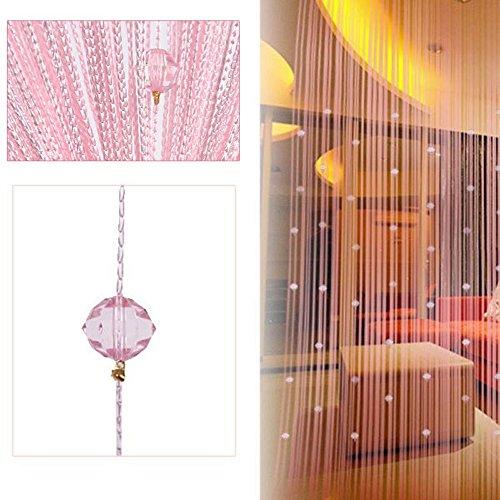 Beauty Strang Quaste Crystal Perlen Vorhang Tür Fenster Panel Raumteiler Dekoration TJB rose