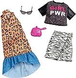 Mattel Fashionistas-Pack de 2 Modas, Ropa Barbie Estampado Animal Print, Accesorios muñecas FXJ65