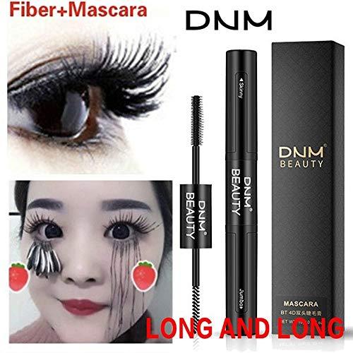 Cooljun 2 en 1 4D Mascara Noir-Extension Mascara Waterproof-Maquillage Cils Curling-Longue Mascara Volume-Noir