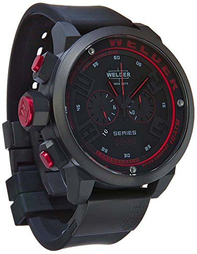 Welder-Mens-Quartz-Watch-with-Black-Dial-Chronograph-Display-and-Black-Rubber-Strap-K31-2602