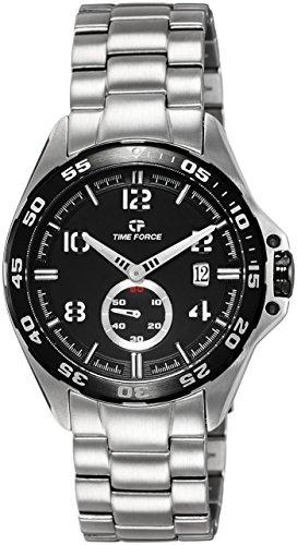 Time Force TF3327M01M - Reloj analógico de cuarzo para hombre, correa de acero inoxidable multicolor