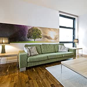 murando wand bilder deko panel xxl 200x50 cm vlies. Black Bedroom Furniture Sets. Home Design Ideas